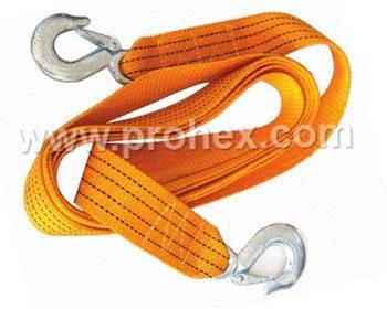 Tali Penarik Pakai Cargo Hook (Flat Tow Rope)
