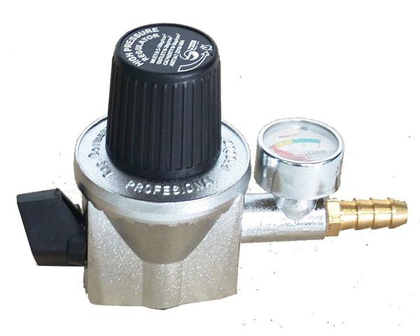 Regulator LPG Crom High Pressure w/ Meter